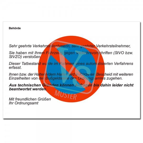 Anzeige Einer Verkehrs Ordnungswidrigkeit Mit Und Ohne Hintergrund Halteverbotszeichen Vordrucke Nach Dem Owig Sicherheit Ordnung Verlagshaus Stadthagen