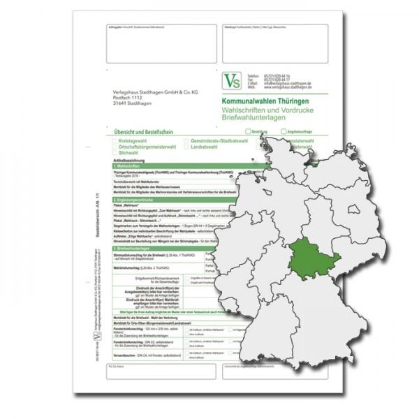 Bestellschein zur Landtagswahl für Briefwahlunterlagen