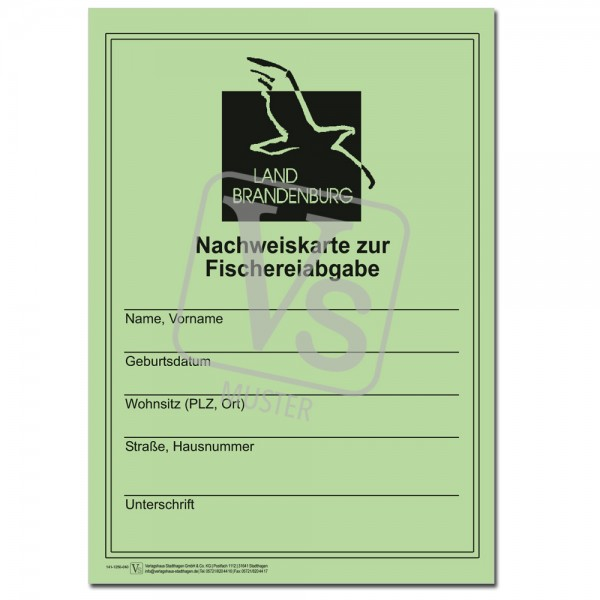 Nachweiskarte zur Fischereiabgabe