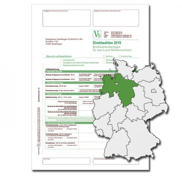 Bestellschein zu den Direktwahlen für Briefwahlunterlagen