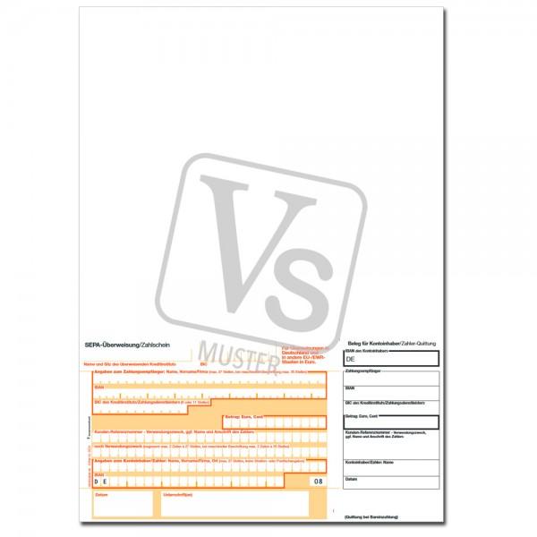 SEPA-Überweisungsschein / Einzahlschein Beleg rechts