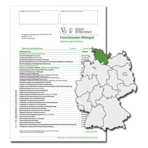 Bestellschein Wohngeld Schleswig-Holstein