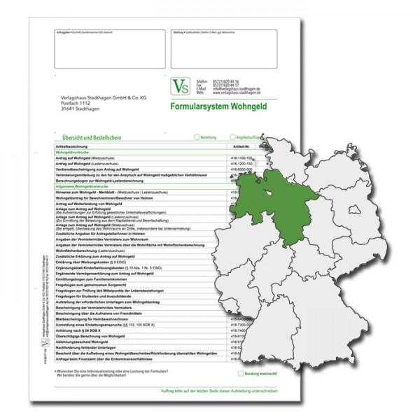 Bestellschein Wohngeld Niedersachsen