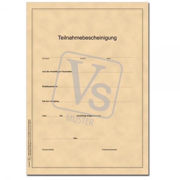 Teilnahmebescheinigung - Urkunde -