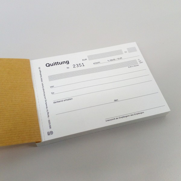Quittungsblock DIN A6, 3fach SD