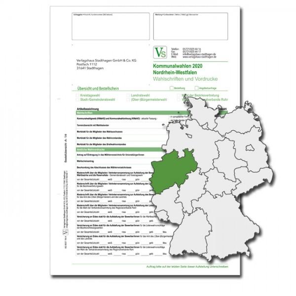 Bestellschein zu den Kommunalwahlen für Wahlschriften & Vordrucke
