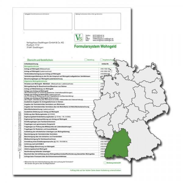 Bestellschein Wohngeld Baden-Würtemberg