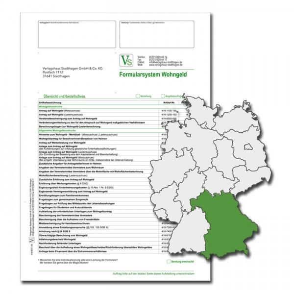 Bestellschein Wohngeld Bayern