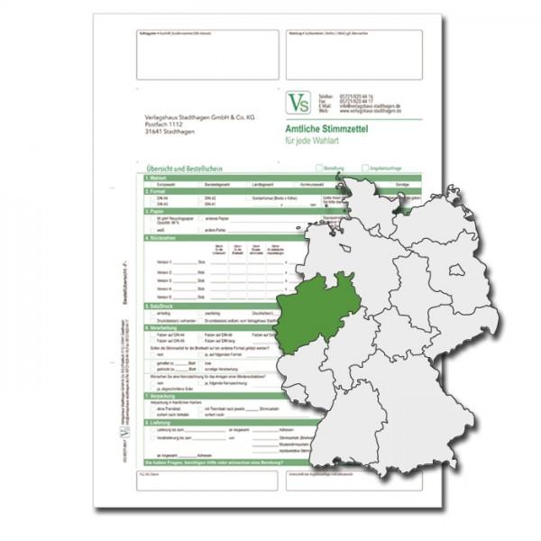 Bestellschein zu den Kommunalwahlen für Stimmzettel