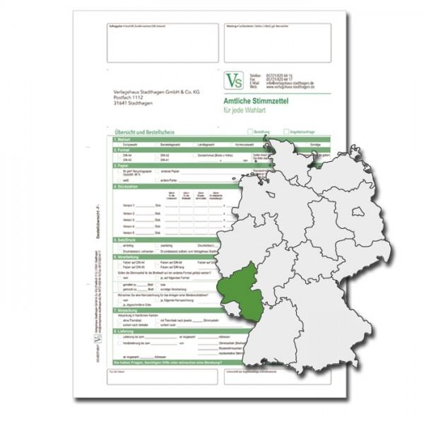 Bestellschein zur Landtagswahl für Stimmzettel