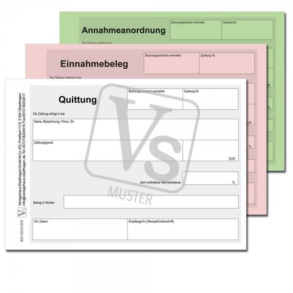 Quittung / Einnahmebeleg / Annahmeanordnung