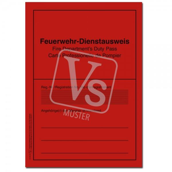 Feuerwehr-Dienstausweis 3-sprachig