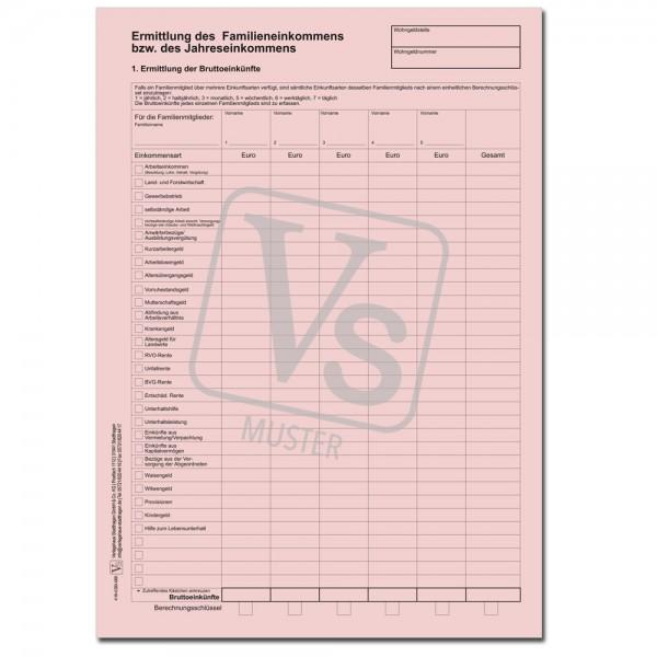 Ermittlungsbogen für das Familieneinkommen