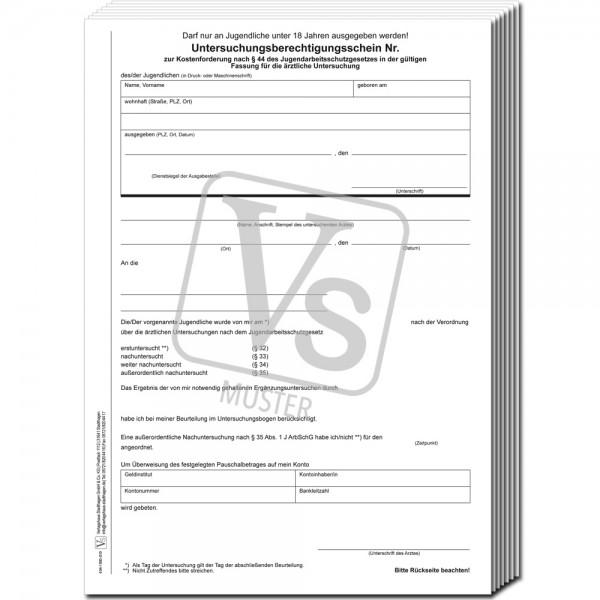 Untersuchungsbogen (Erstuntersuchung)