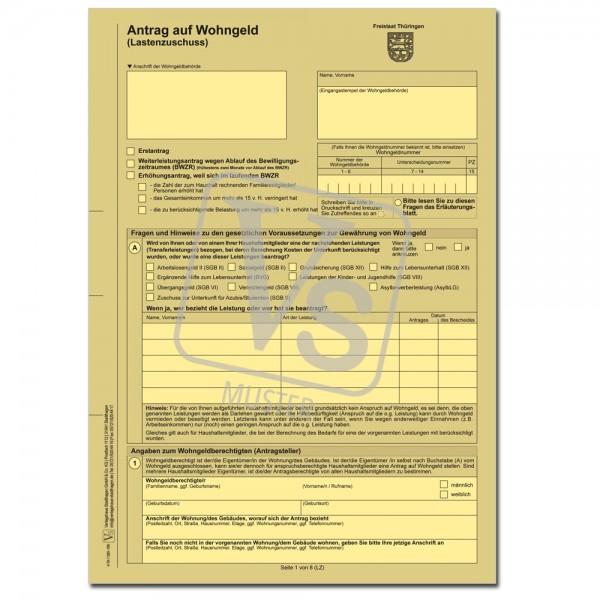 Antrag auf Wohngeld /Lastenzuschuss)