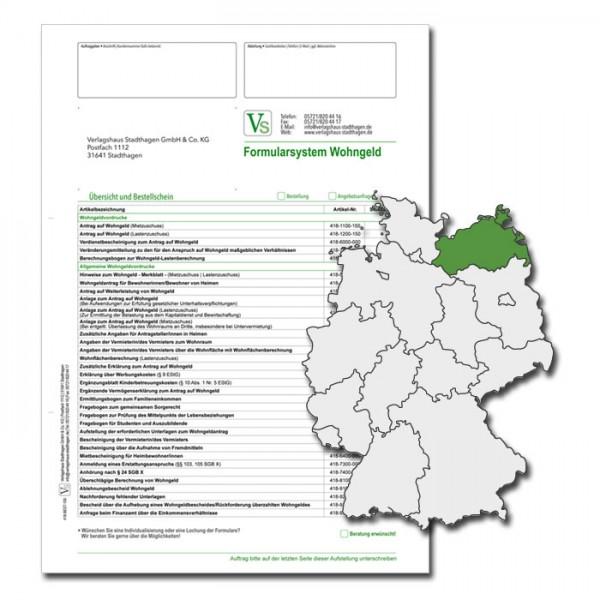 Bestellschein Wohngeld Mecklenburg-Vorpommern