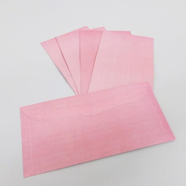 Briefumschlag DIN C6/5, hellrot eingefärbt