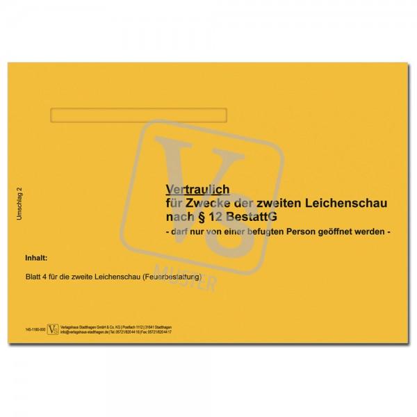 Umschlag 2 (für Zwecke der zweiten Leichenschau)