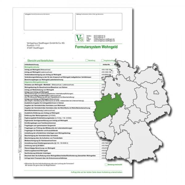Bestellschein Wohngeld Nordrhein-Westfalen